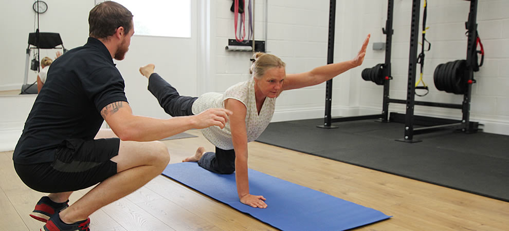 Friendly and relaxing Health and Rehab Gym with personal trainer to guide you